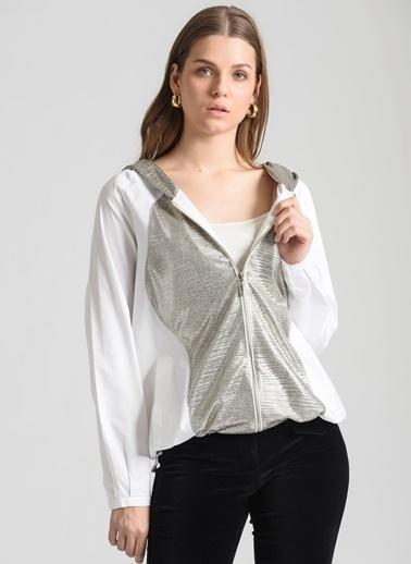 Ebru Günay Bluz Beyaz